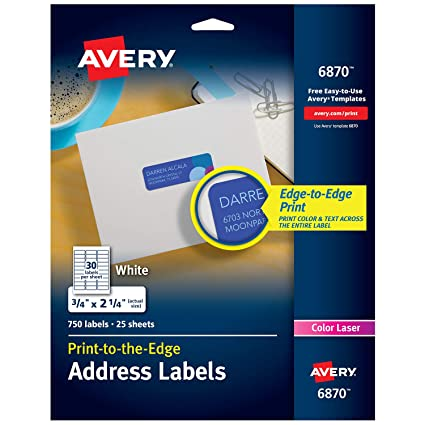 amazon com avery white laser labels for color printing 3 4 x 2 1