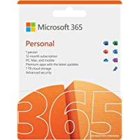 Microsoft 365 Personal | 12-Month Subscription, 1 person | Premium Office apps | 1TB OneDrive cloud storage | PC/Mac/iOS…