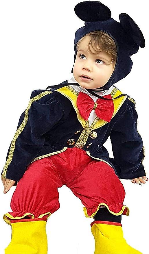 pequeños monelli Traje Mickey Mouse Niño Vestido frak Mikey ratón ...