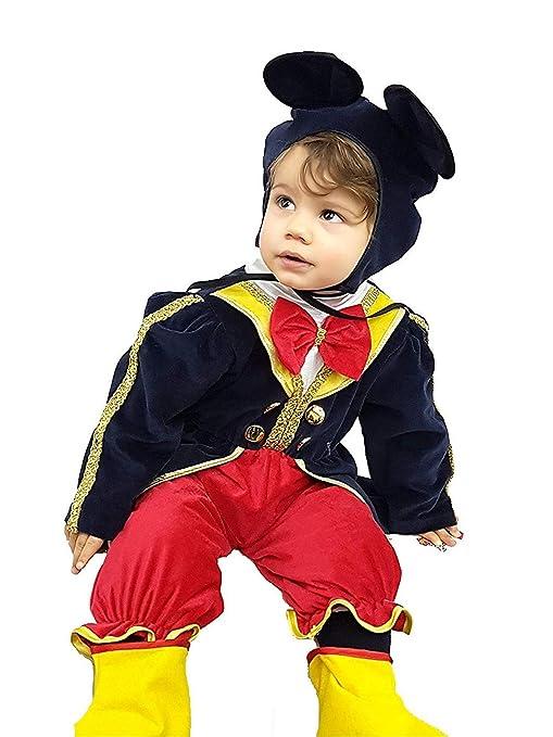acquista per ufficiale goditi un grande sconto i più votati più recenti PICCOLI MONELLI Costume Topolino Bambino 3 6 Mesi Vestito ...