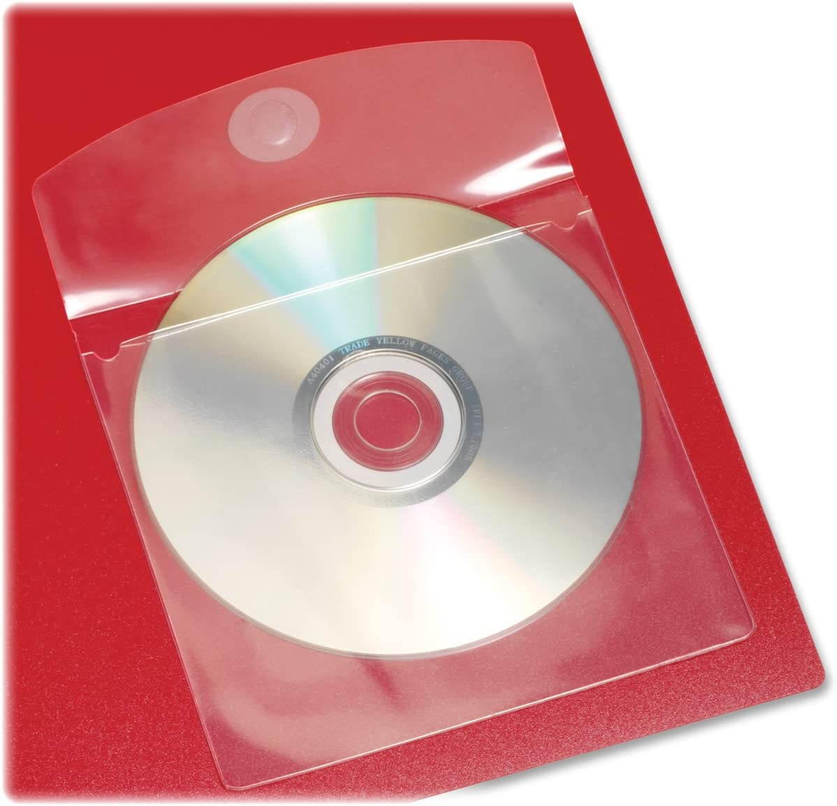 Cardinal HOLDit! Self-Adhesive CD or DVD Pockets, 5 x 5 Inches, Clear, 10 Pockets per Bag (21845)
