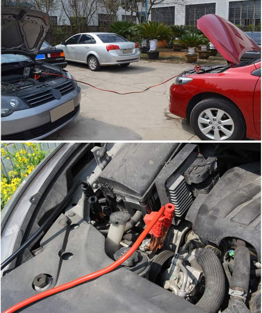 congchuaty Hochleistungs-500AMP 2M Autobatterie-Sprung f/ührt Kabel-/Überbr/ückungskabel f/ür Auto-Packwagen-LKW