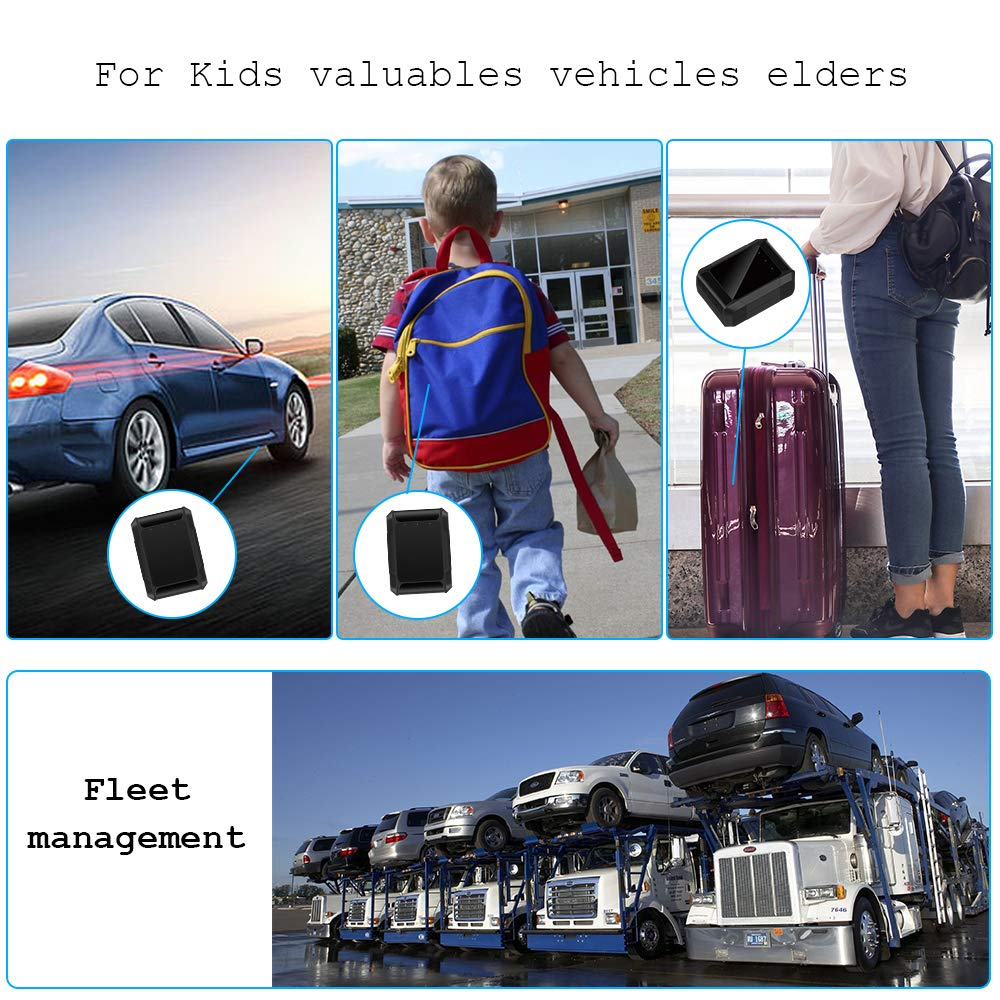 Euouae GT300L Portable Personal Vehicle GPS Tracker Real Time Locator with 1 Year Data Plan NO Monthly Fee//Subscription Fee