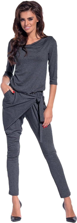 Lemoniade eleganter Jumpsuit mit Langen /Ärmeln elegantem Schnitt und ausgefallenen Details