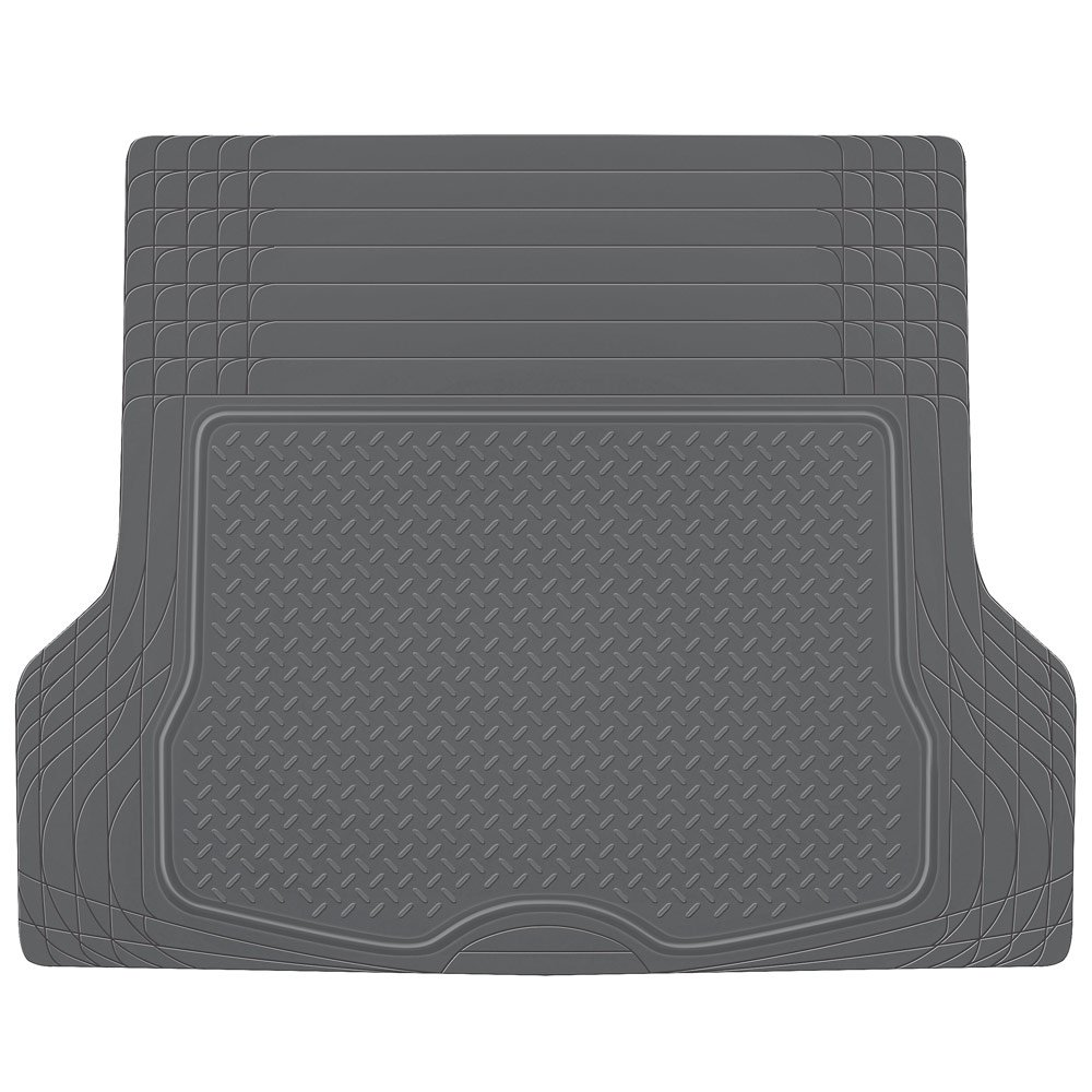 Rubber Floor Mats Jeep Cherokee - Bdk heavy duty rubber cargo floor mat all weather trunk protection trimmable to fit durable hd rubber gray