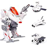 Sillbird STEM 4-in-1 Solar Science Robot kit for Kids, Educational Space Moon Exploration Fleet Building Experiment Toys kit