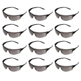 AmazonCommercial Safety Glasses (Gray/Black Anti-scratch), 12-pack