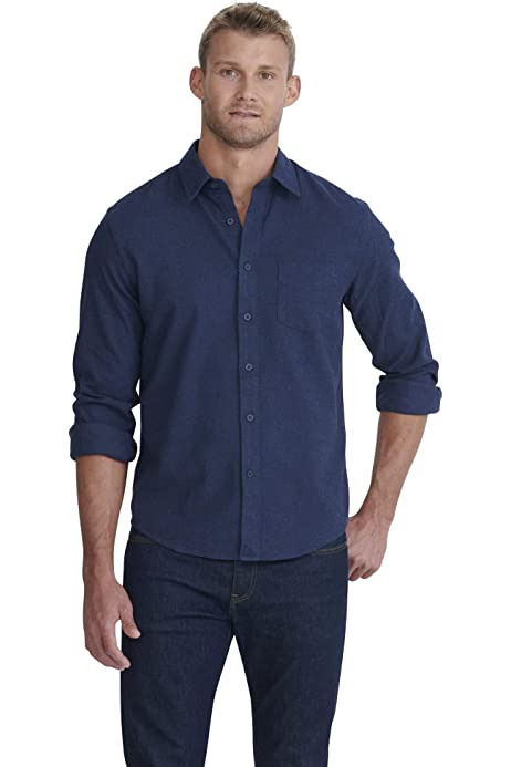 Blue /& Grey Year-Round Plaid UNTUCKit Fiano Untucked Shirt for Men Long Sleeve