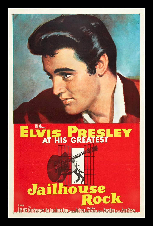 e596d1e1988c1 Amazon.com: Elvis Presley Jailhouse Rock Poster 1957 Original Studio ...