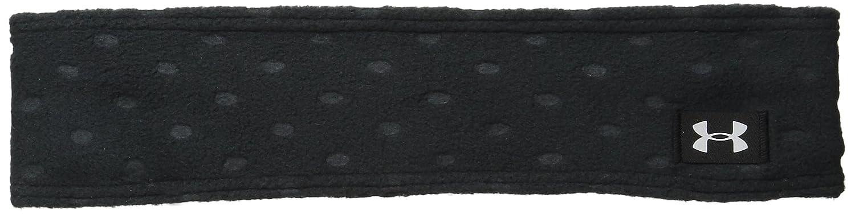 Under Armour Niñas \'acogedor forro polar diadema - 1262465, Negro/Plateado metálico