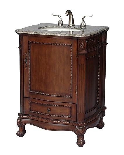 . 26 Inch Antique Style Single Sink Bathroom Vanity Model 2192 GY