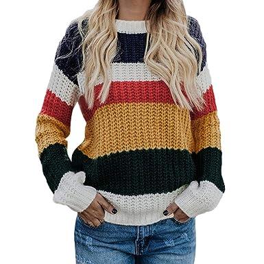 Women Sweater Las Mujeres de los Hombros suéter Casual de Punto Suelto de Manga Larga Jersey Tops: Amazon.es: Ropa y accesorios