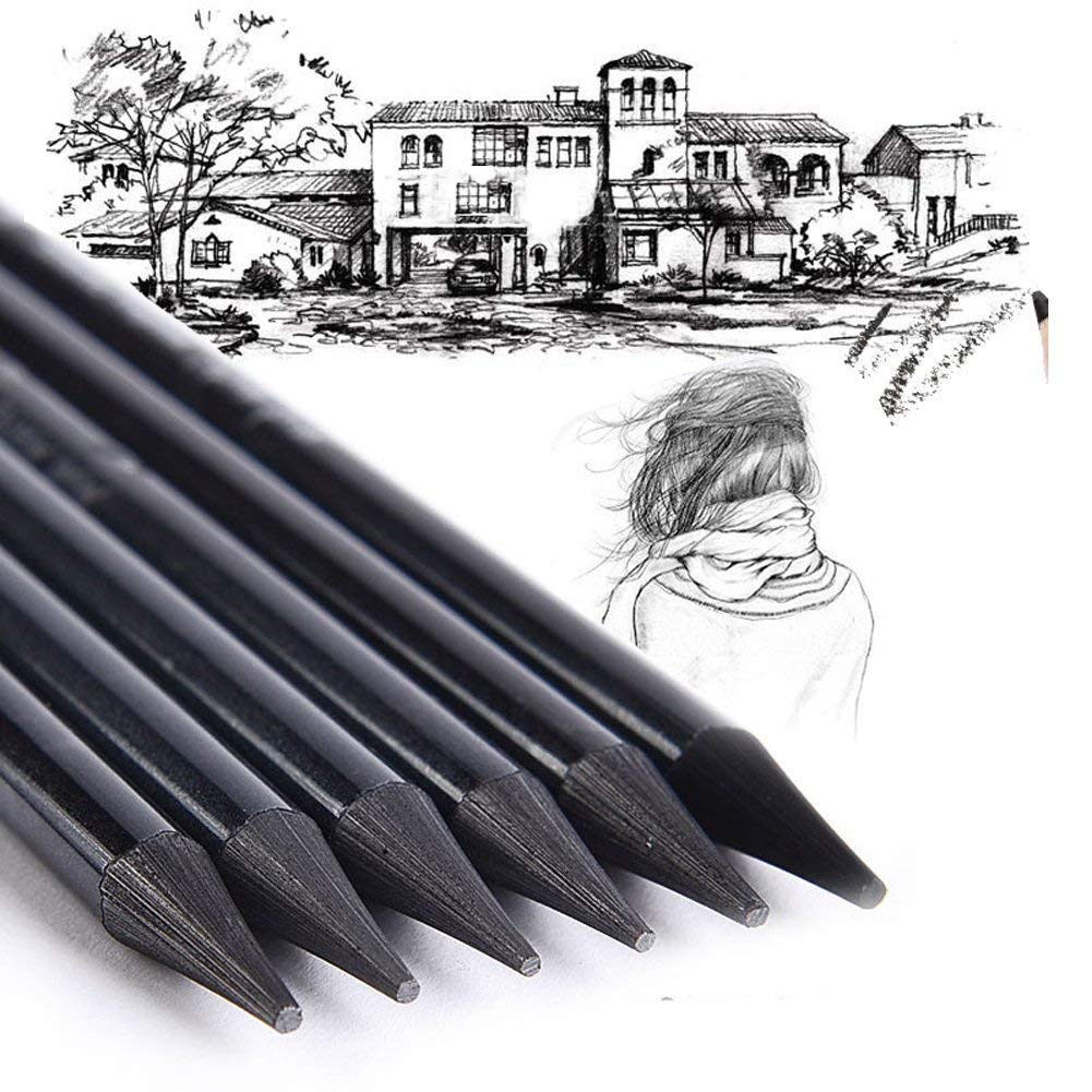 Knafs woodless graphite charcoal sticks for drawing writing
