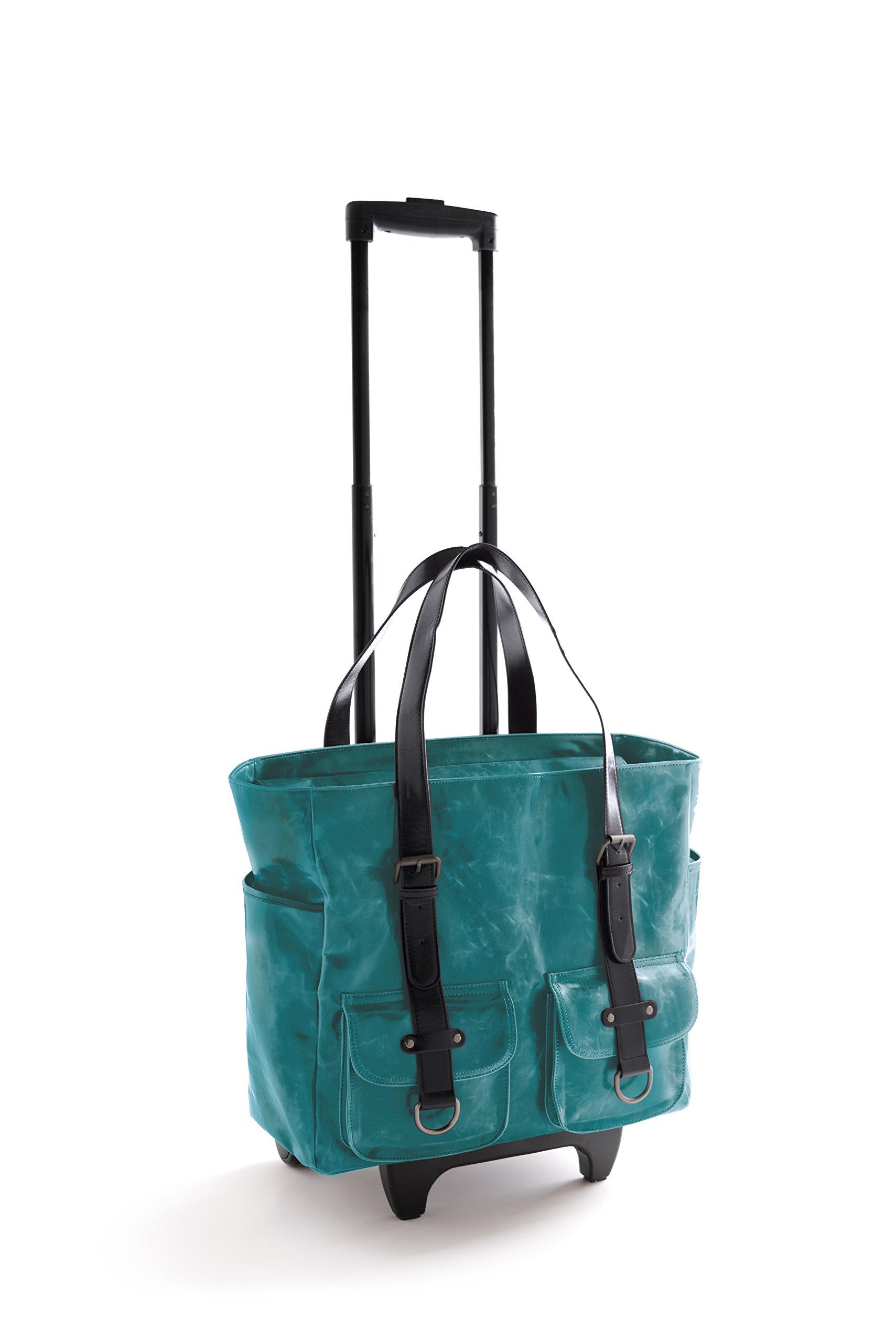 Shiraleah Harper Roller Tote Daypack, Aqua