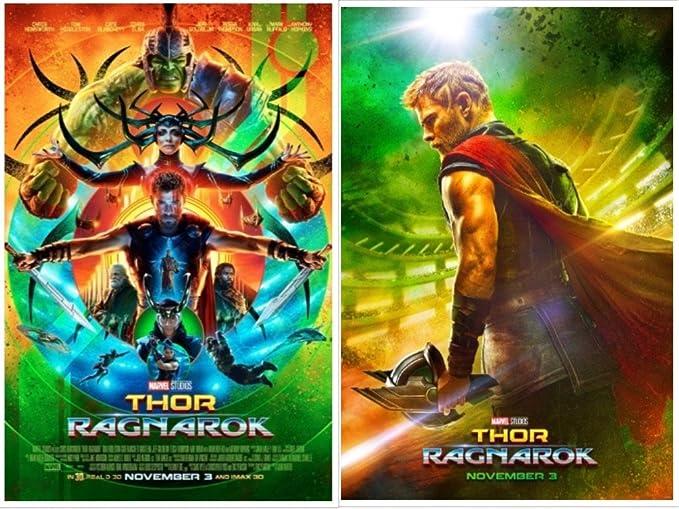 CHOOSE YOUR SIZE Thor Poster Ragnarok 2017 Movie Hemsworth New Marvel FREE P+P