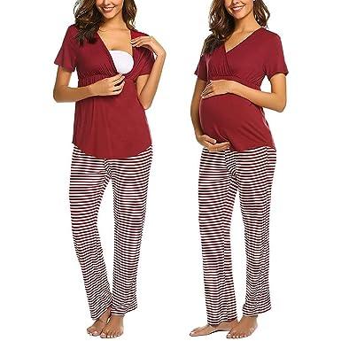 GUCIStyle Ropa Premamá Lactancia Pijama Conjunto Maternidad ...