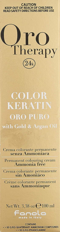 Fanola - Oro Therapy Color Keratin Puro, crema colorante permanente 100 ml 5 Hellbraun