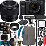 Sony a7C Mirrorless Full Frame Camera 2 Lens Kit Body with 28-60mm F4-5.6 + 50mm F1.8 SEL50F18 Black ILCE7CL/B Bundle with De