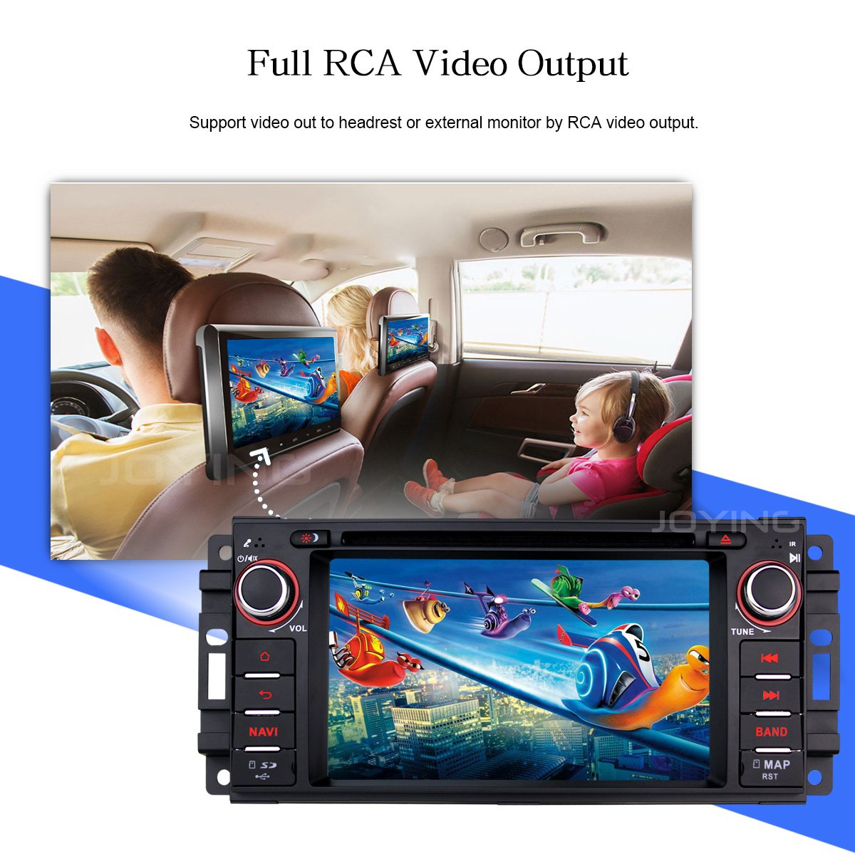 Joying Car Stereo 4gb 64gb Android 80 62 Inch Single Details About Chrysler Dodge Jeep Radio Wiring Harness Headunit Din With Zlink Auto For Video Out Subwoofer