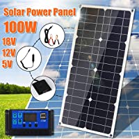 25/W 18/V Poly Panneau solaire pour Home RV Yacht Bateau 12/V Charge de la batterie pour lext/érieur dalimentation