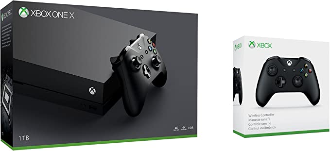 Xbox One X 1TB console + Xbox Wireless Controller - Black ...