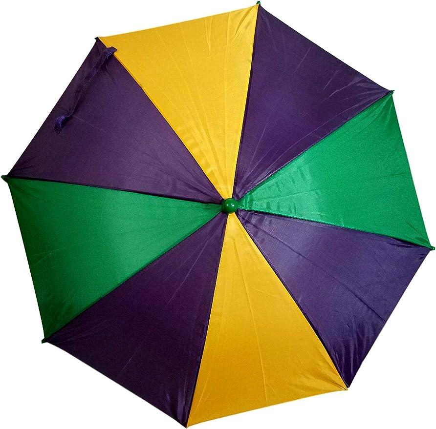 Mardi Gras Umbrella Second Line Parasol Green Purple Gold 16