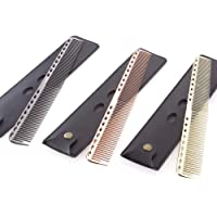 Niome Professional Salon Hair Comb Stainless Steel Ultra-thin Anti-Static Styling Combs Tools With Bag 21.5 Silver