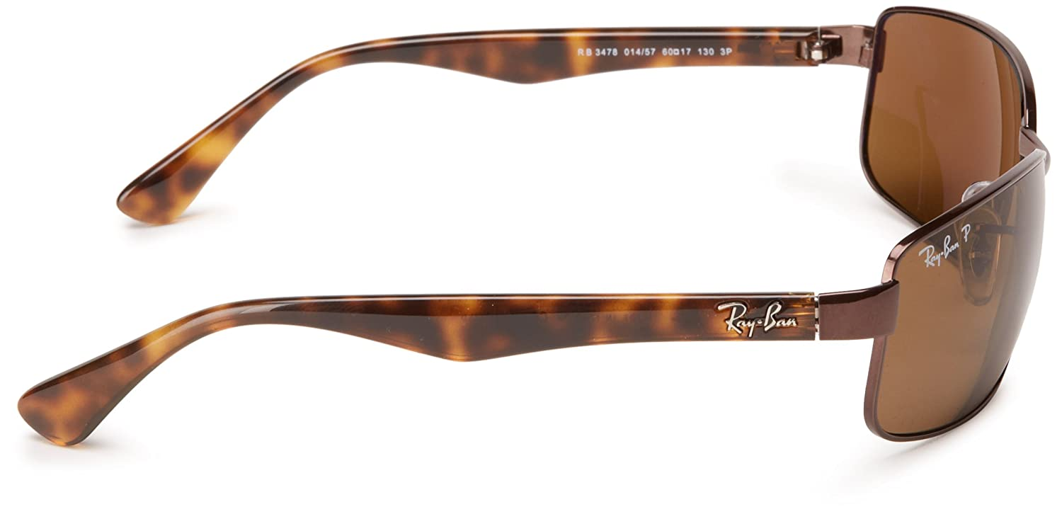 071c1c04b33 ... discount code for amazon ray ban men rb3478 014 57 polarized sunglasses  brown frame crystal brown