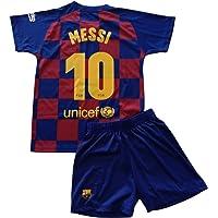 FCB Conjunto Camiseta y Pantalón Primera Equipación Infantil Messi del FC Barcelona Producto Oficial Licenciado…