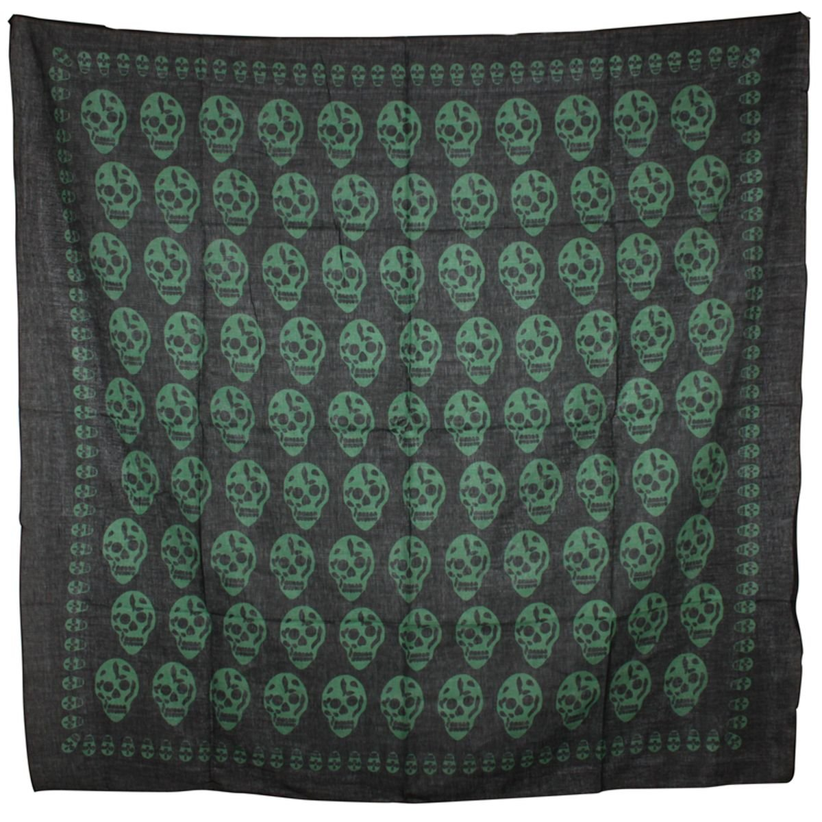 Superfreak/® Baumwolltuch mit Totenkopf Muster Schal 100x100 cm 100/% Baumwolle Tuch