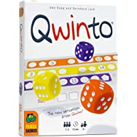 Pandasaurus Games Qwinto, Fast-Paced Dice Game, Everyone Plays at the Same Time, Fill Rows on Scoresheets with Numbers…
