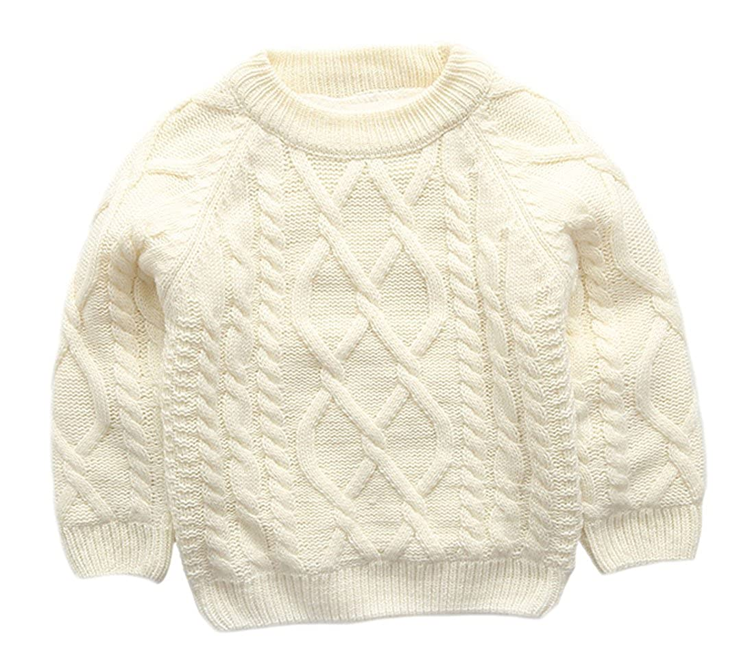 XINNE Unisex Toddler Kids Knitted Pullovers Thicken Cable Tops Jumpers Sweater