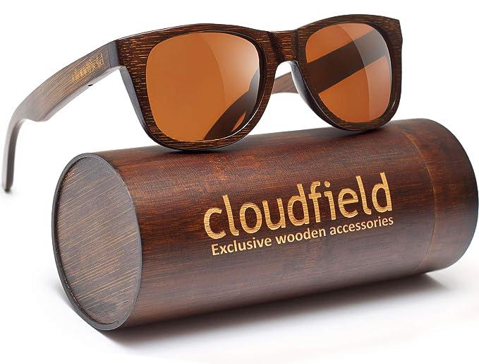 a9b7528a5e cloudfield madera polarizada Gafas de sol Wayfarer estilo - 100% protección  UV, bambú marco de madera: Amazon.es: Ropa y accesorios