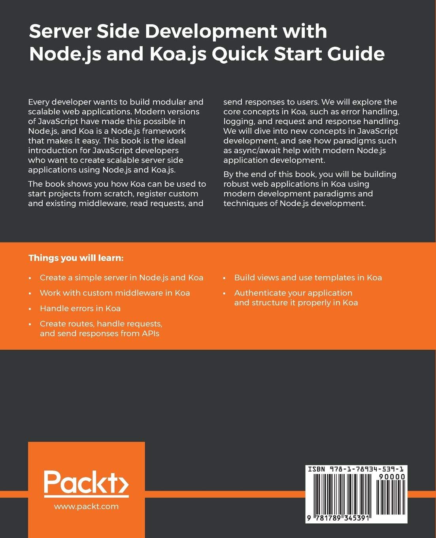 Server Side Development with Node Js and Koa Js Quick Start