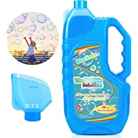 Bloranda Bubble Solution Refill (Up to 3 Gallon) Concentrated Giant Bubble Liquid 40 Ounce with Easy Pour Funnel…