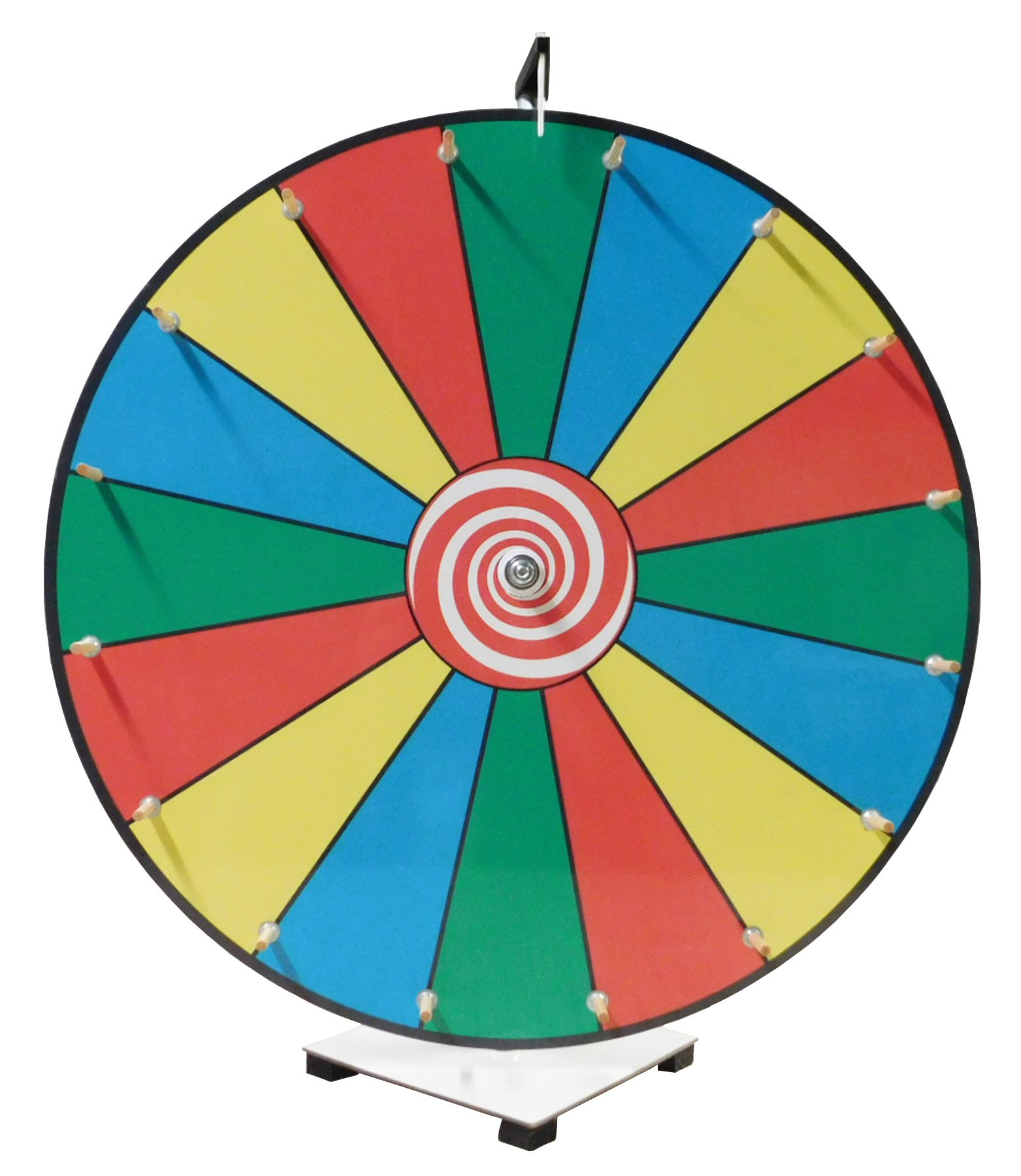 Prize Wheel 24 inch Dry Erase Color Face Classic Wooden Peg Design