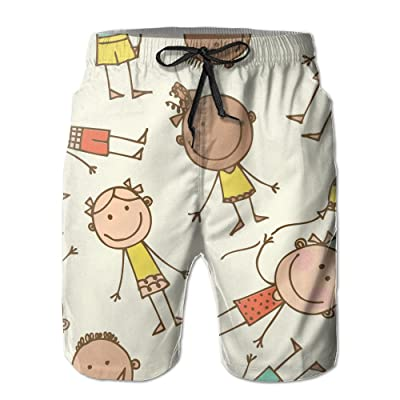2017 New Style Cute Characters Colourful Elastic Summer Shorts For Mens