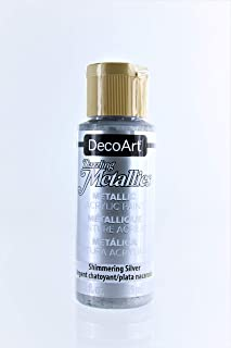 product image for 2-Pack - DecoArt Dazzling Metallics Acrylic Colors - Silver, 2-Ounces Each
