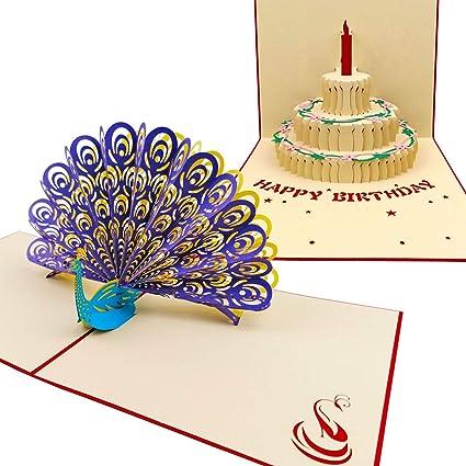 Amazon De Lon 3D Pop Up Birthday Card Creative Greeting Card