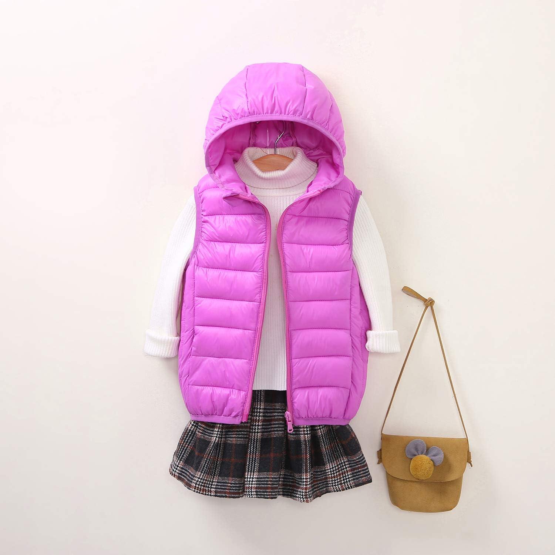 Ohrwurm Boys Girls Lightweight Down Vest Sleeveless Hooded Puffer Jacket for Kids 3-12 Years