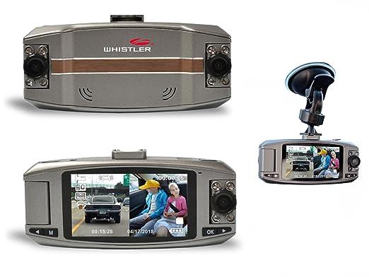 Amazon.com: WHISTLER AUTOMOTIVE DIGITAL VIDEO RECORDER D2200 Dual Lens Dash Camera + 16GB SD C10: Car Electronics