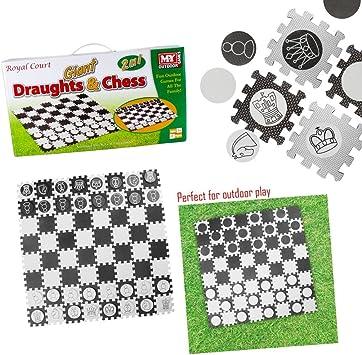 KandyToys Juego de ajedrez y borradores Gigantes Impermeables para ...