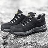 CAMEL CROWN Mens Hiking Shoes Low Cut Boots Leather