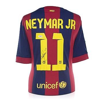 exclusivememorabilia.com Neymar Jr Firmado de Barcelona 2014-15 camiseta de fútbol: Amazon.es: Deportes y aire libre