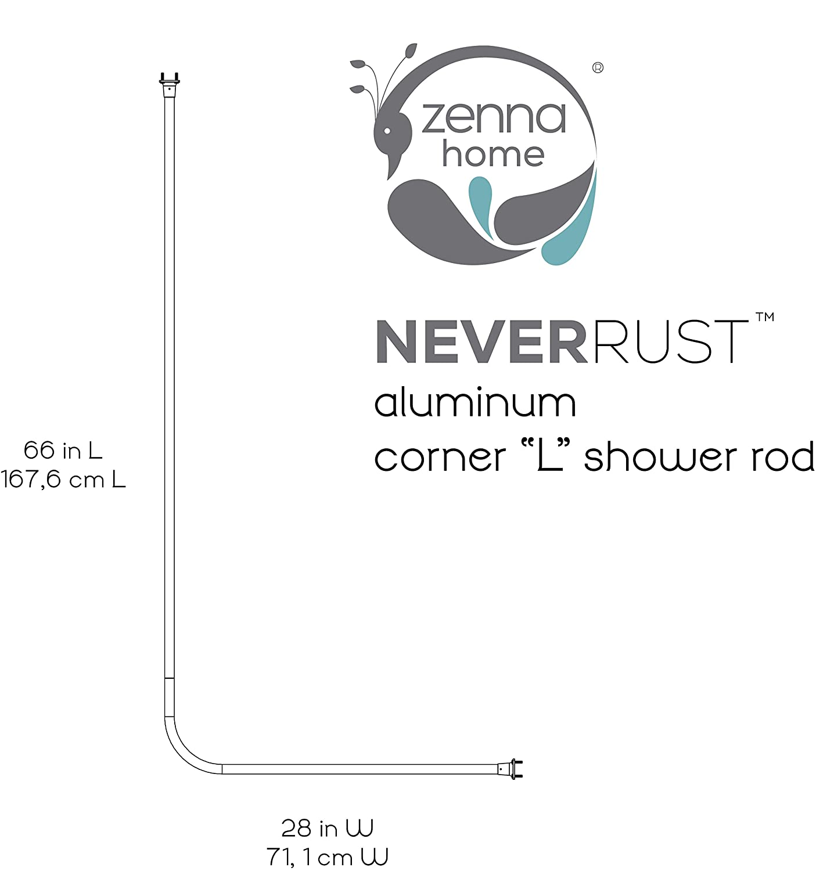 Amazoncom Zenna Home WW NeverRust Aluminum L Shaped - Corner garden tub dimensions