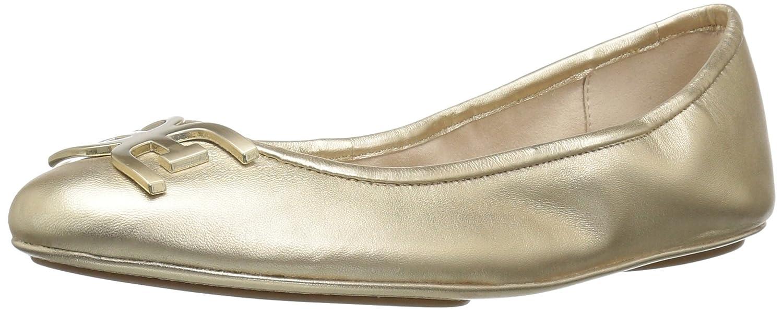 Sam Edelman Women's Florence Ballet Flat B07745G5GV 10 B(M) US|Molten Gold/Metallic Leather
