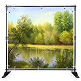 WinSpin 10 Ft Adjustable Background Banner Stand