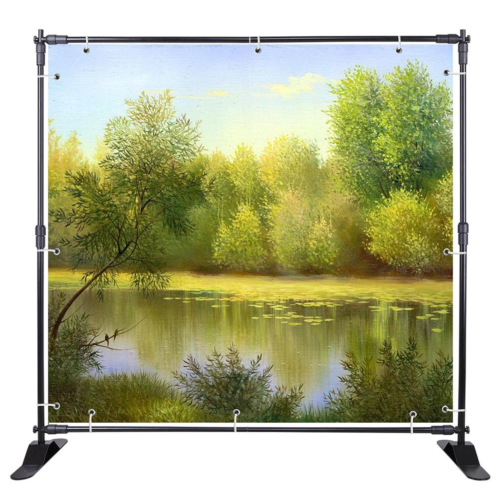 WinSpin 10 Ft Adjustable Background Banner Stand Backdrop Exhibitor Expanding Display by WinSpin (Image #2)