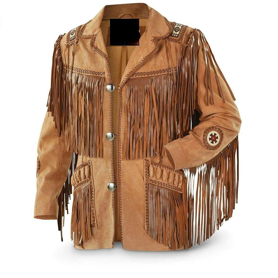 GWL Best Mens Western Cowboy Genuine Suede Leather Jackets Fringe 26 MN786261