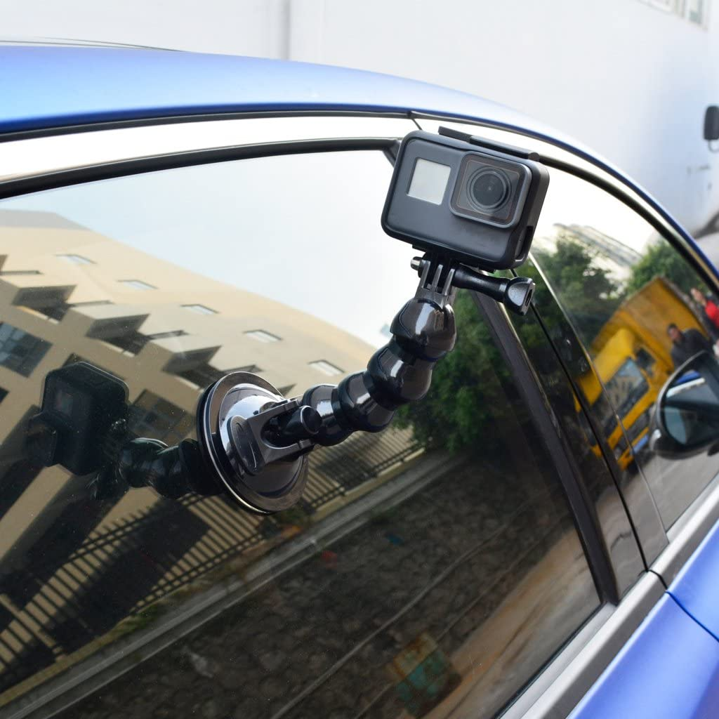 Flexible Car Sucker Holder Mount Suction Cup with Phone Clip for Hero
